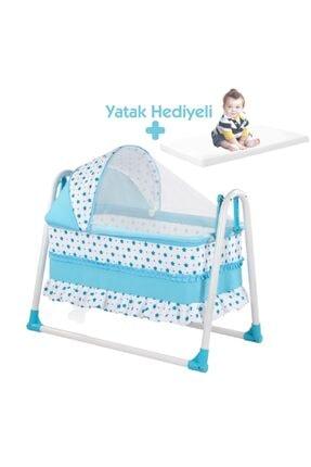 bebegen Elit Portatif Sallanır Bebek Beşik Mavi 0