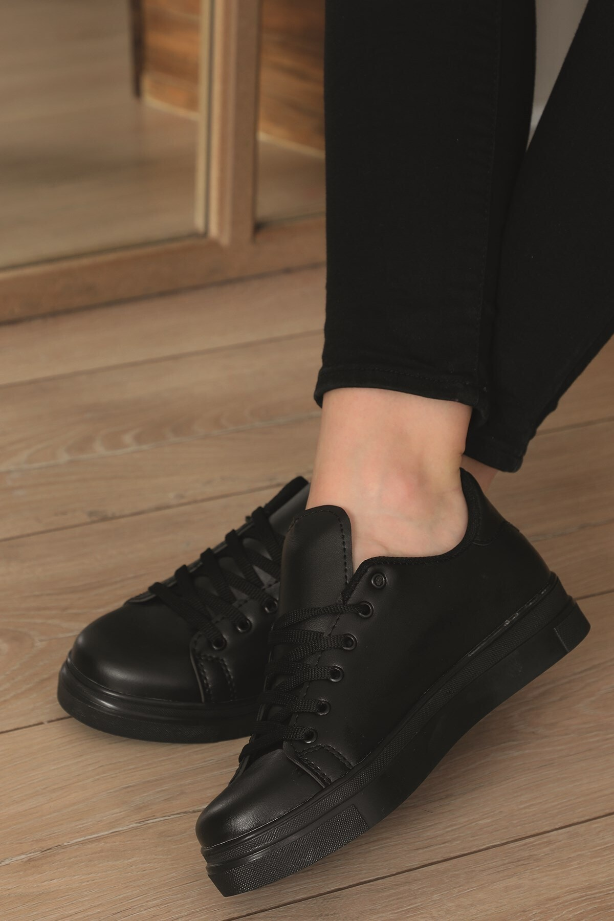 AlbiShoes Kadın Siyah Spor Ayakkabısı