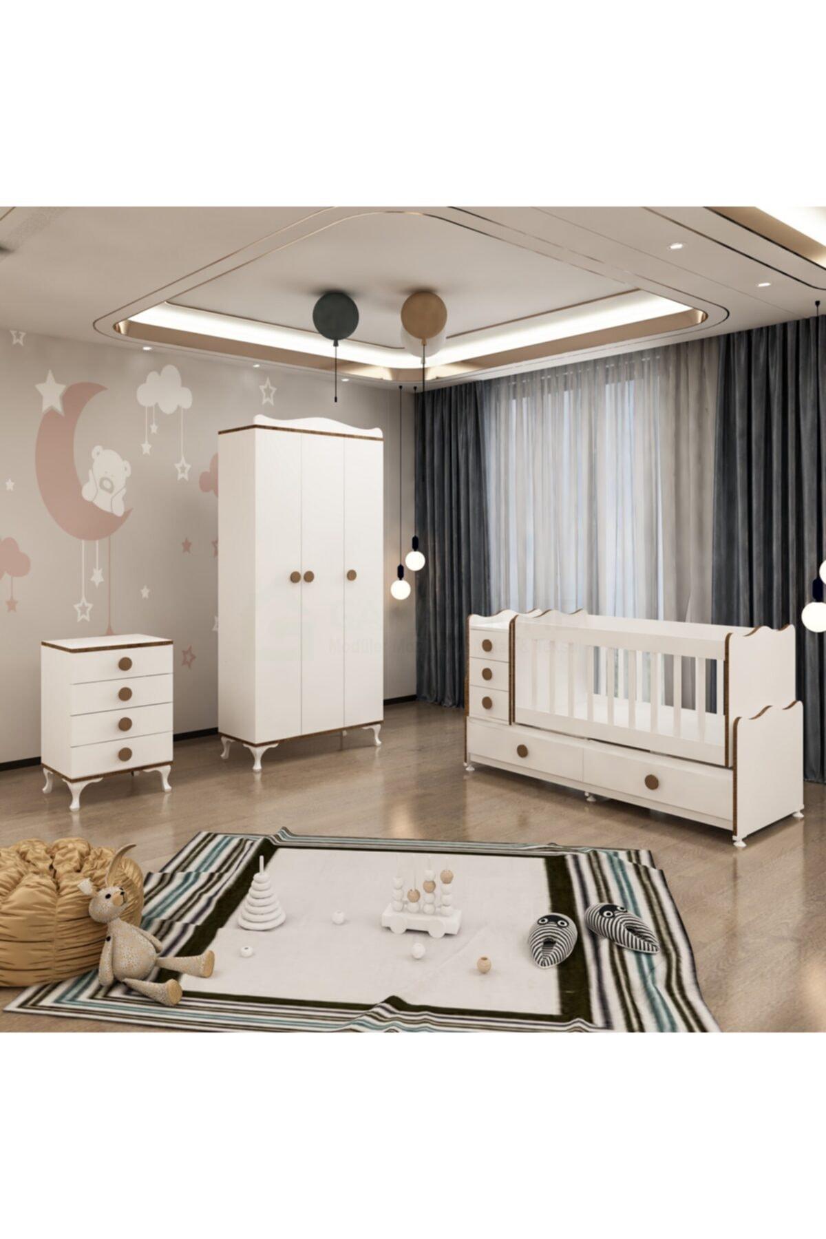 Melina Yıldız 3 Kapaklı Bebek Odası Takımı - Sümela