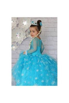 damdikids Kız Çocuk Elbisesi Tarlatanlı Elsa Kostümü 1