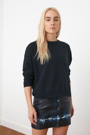 TRENDYOLMİLLA Lacivert Basic Örme Sweatshirt TWOAW20SW0055 0