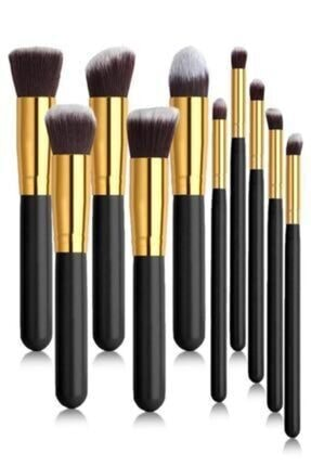Siyah Makyaj Fırça Seti 10'lu fırça set