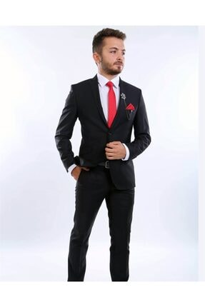 intersivin Slim Fit Siyah Takım Elbise 0