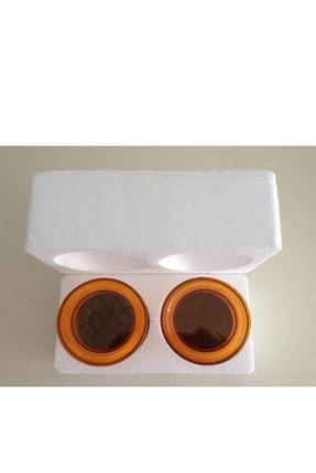CRALEX Optima 850 ml Turuncu Kapaklı Borosilikat Cam Kavanoz 2