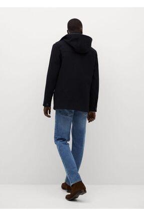 Mango Erkek Çıkarılabilir Kapüşonlu Yün Palto 2