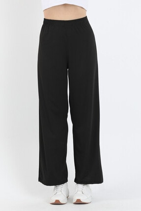 Twenty3 Kadın Siyah Bol Paça Pantolon 2