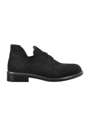 Ermod 105 Siyah Süet Kadın Günlük Ayakkabı 0