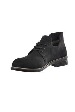 Ermod 105 Siyah Süet Kadın Günlük Ayakkabı 2