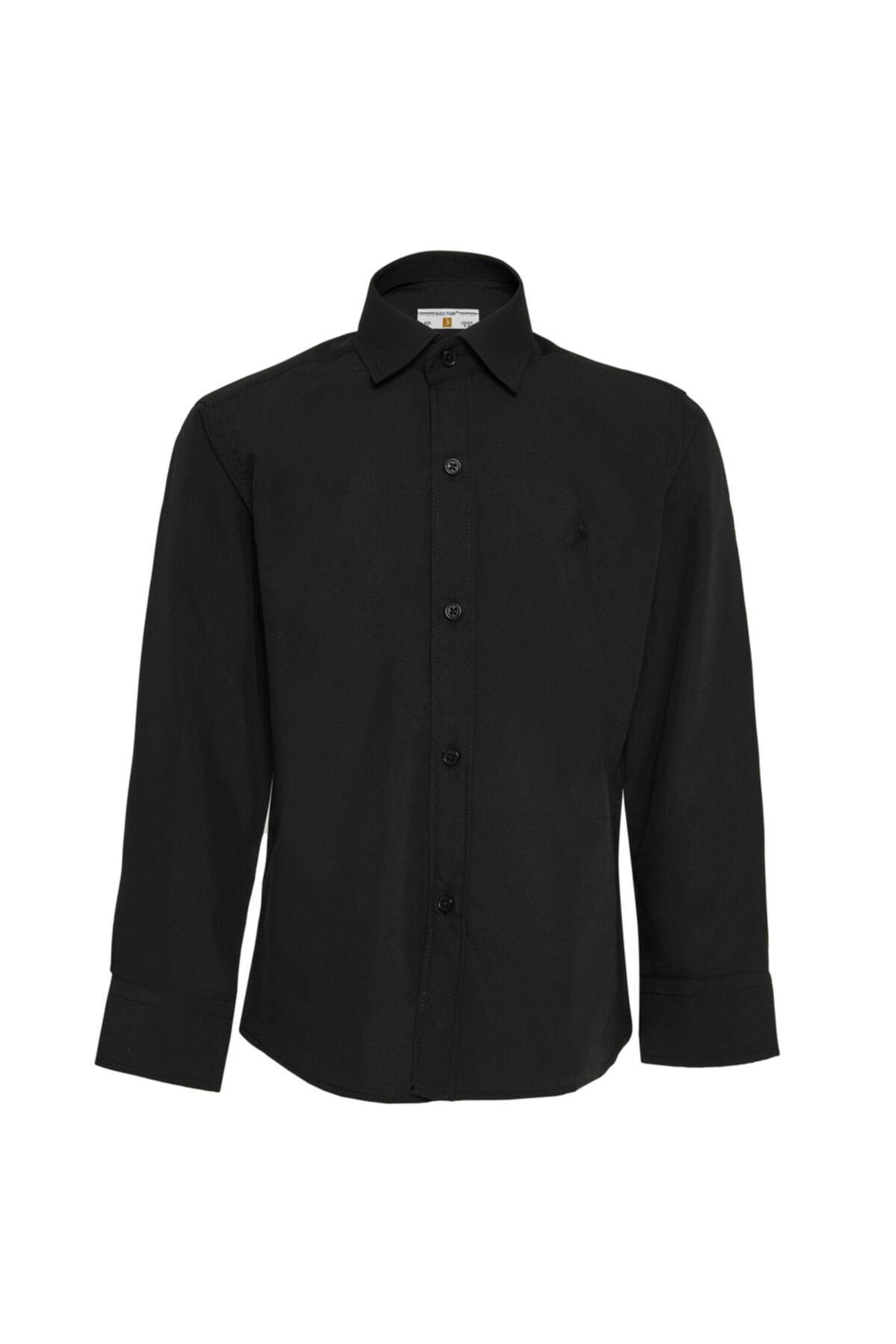 Erkek Çocuk Siyah Gömlek
