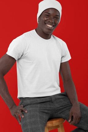 LeeStaf Erkek Beyaz Basic T-shirt 001 0