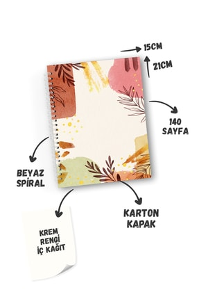 CoNotes 3'lü Spiralli Kareli Defter Seti - Brown Series 2