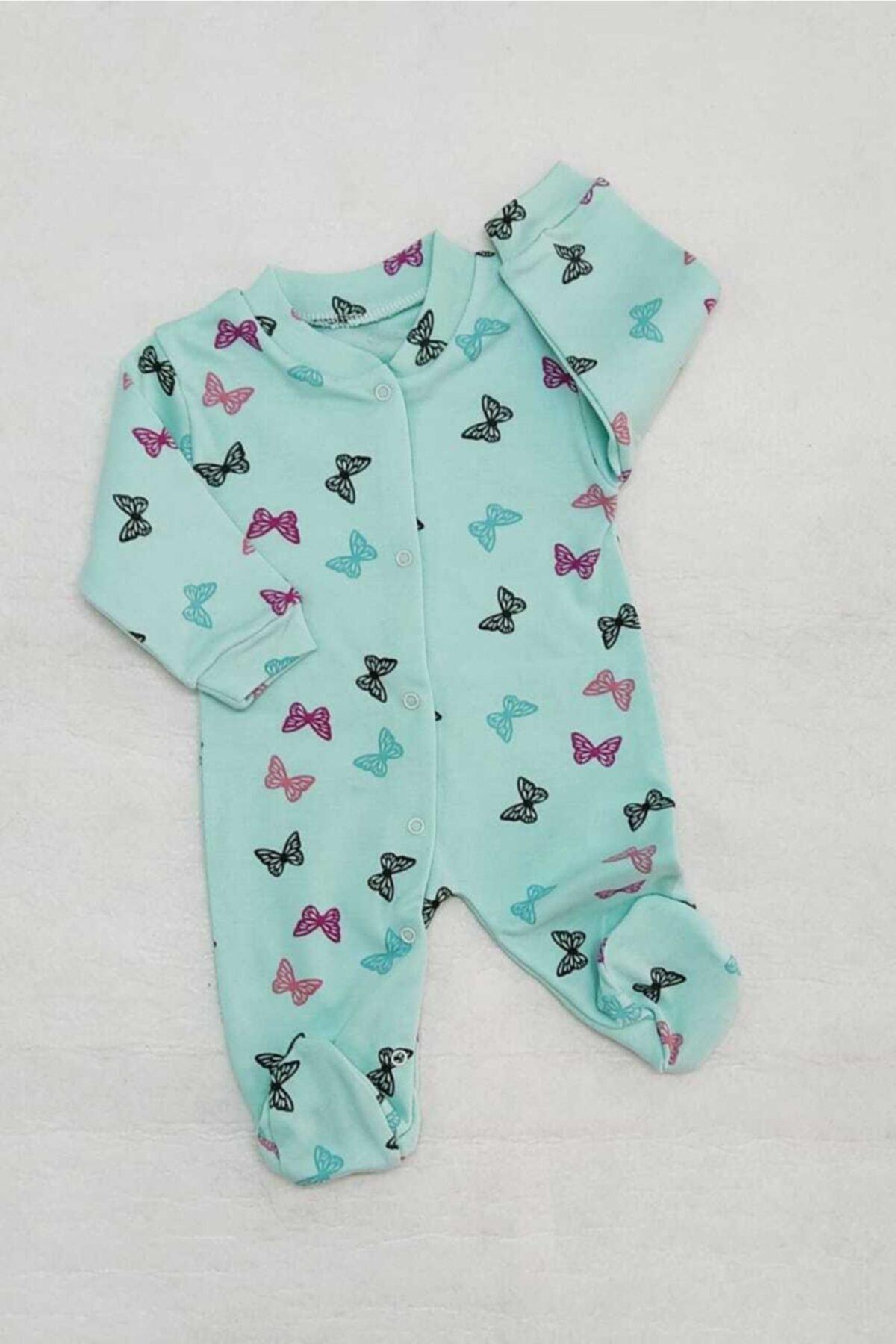 Ladybirds Yeni Doğan Kız Bebek Kelebek Desenli Tulum