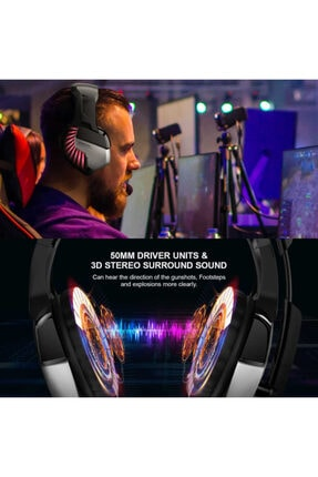 Zore K5 Pro Profesyonel Kulak Üstü Oyuncu Kulaklığı 1