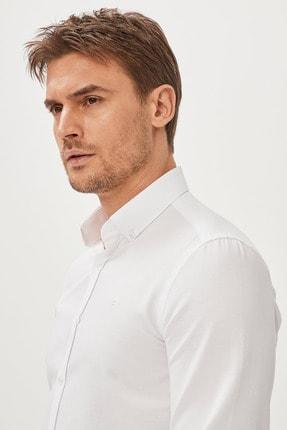 Avva Erkek Beyaz Oxford Düğmeli Yaka Slim Fit Gömlek E002000 1