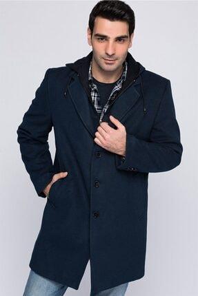 Erkek  Battal Palto-lacivert Plt8395 resmi