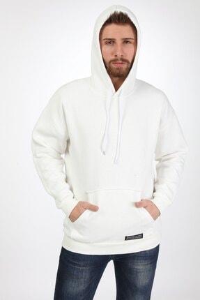 Millionaire Erkek Ekru Kapşonlu Oversize Sweatshirt 2