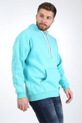 Millionaire Erkek Mint Kapşonlu Oversize Sweatshirt 1