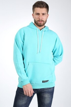 Millionaire Erkek Mint Kapşonlu Oversize Sweatshirt 2