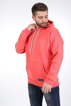 Millionaire Erkek Nar Çiçeği Kapüşonlu Oversize Sweatshirt 1