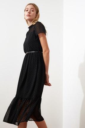 TRENDYOLMİLLA Siyah Kemerli Elbise TWOSS20EL0983 2