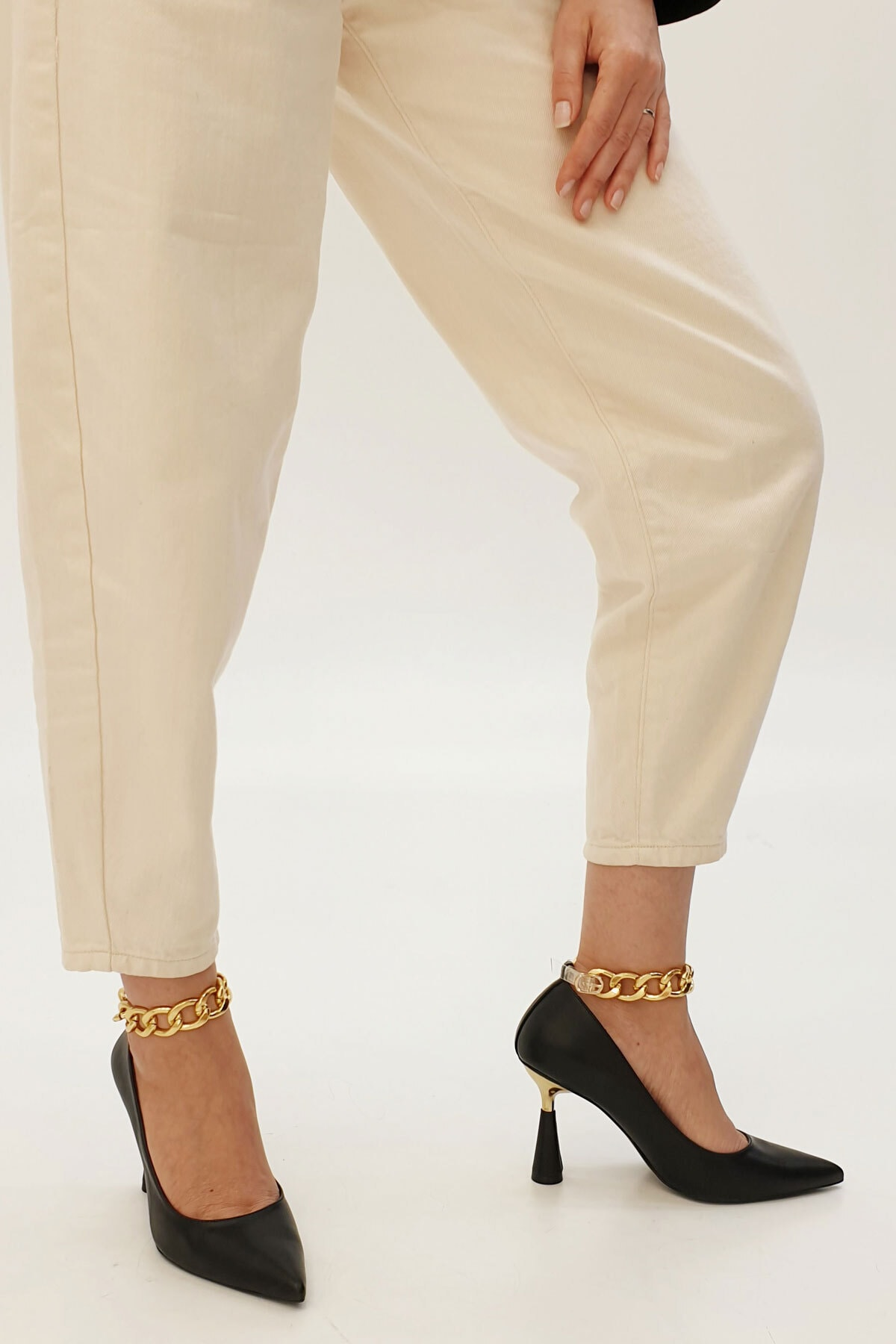 Marjin Kadın Siyah Stiletto Topuklu Ayakkabı Nazita 1