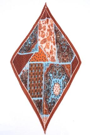 Y-London 12353 Etro Desenli Kiremit Pliseli Fular 3