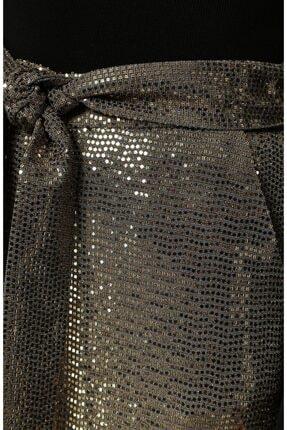 Bol Paça Altın Rengi Pantolon PRA-3190246-135852