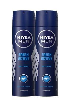Nivea Fresh Active Erkek Sprey Deodorant 150 ml 2 Adet 0