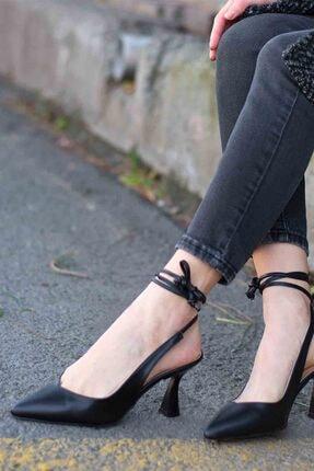Gökçe Shoes NORA SİYAH TOPUKLU AYAKKABI 0