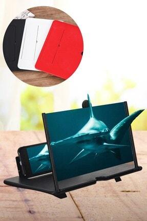 Buffer Taşınabilir Göz Yormayan 3d Cep Telefonu Mobil Tablet Hd Ekran Video Büyütücü Büyüteci 1