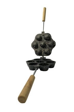 KARADAĞ METAL Tartolet Döküm Granit Kaplama Kurabiye Kalıbı 7'li 0