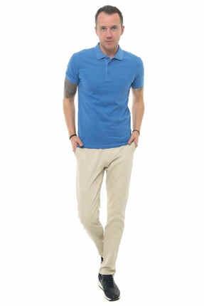 Cazador Caz 4613 Erkek Mavi Polo T-shırt 1