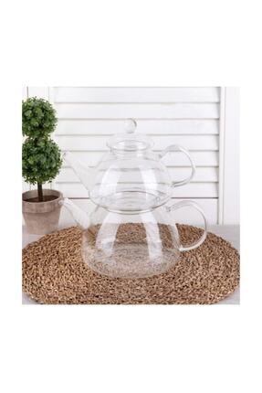 YzHome Borosilikat Cam Çaydanlık Takımı Isıya Dayanıklı 0