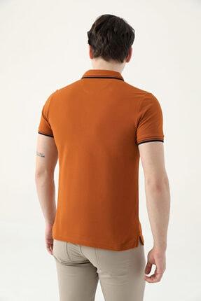 D'S Damat Ds Damat Slim Fit Tarçın Pike Dokulu T-shirt 3