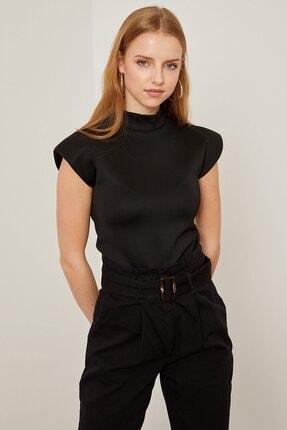 Arma Life Kadın Siyah Vatkalı Dalgıç Bluz 1