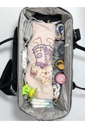 Harika ikizler Unisex Siyah Anne Bebek Bakım Çantası 4