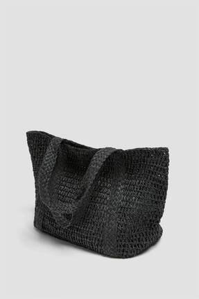 Pull & Bear Örgülü Paperbag Model Tote Çanta 1