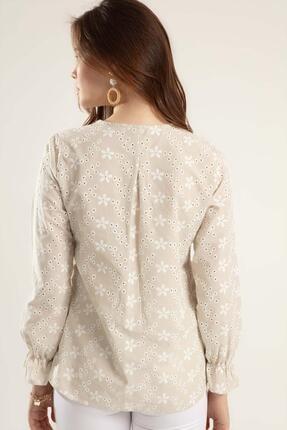 Pattaya Kadın Çiçekli Uzun Kollu Bluz Y20s110-0381 3