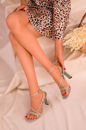 Soho Exclusive Yeşil Kadın Klasik Topuklu Ayakkabı 15859 2
