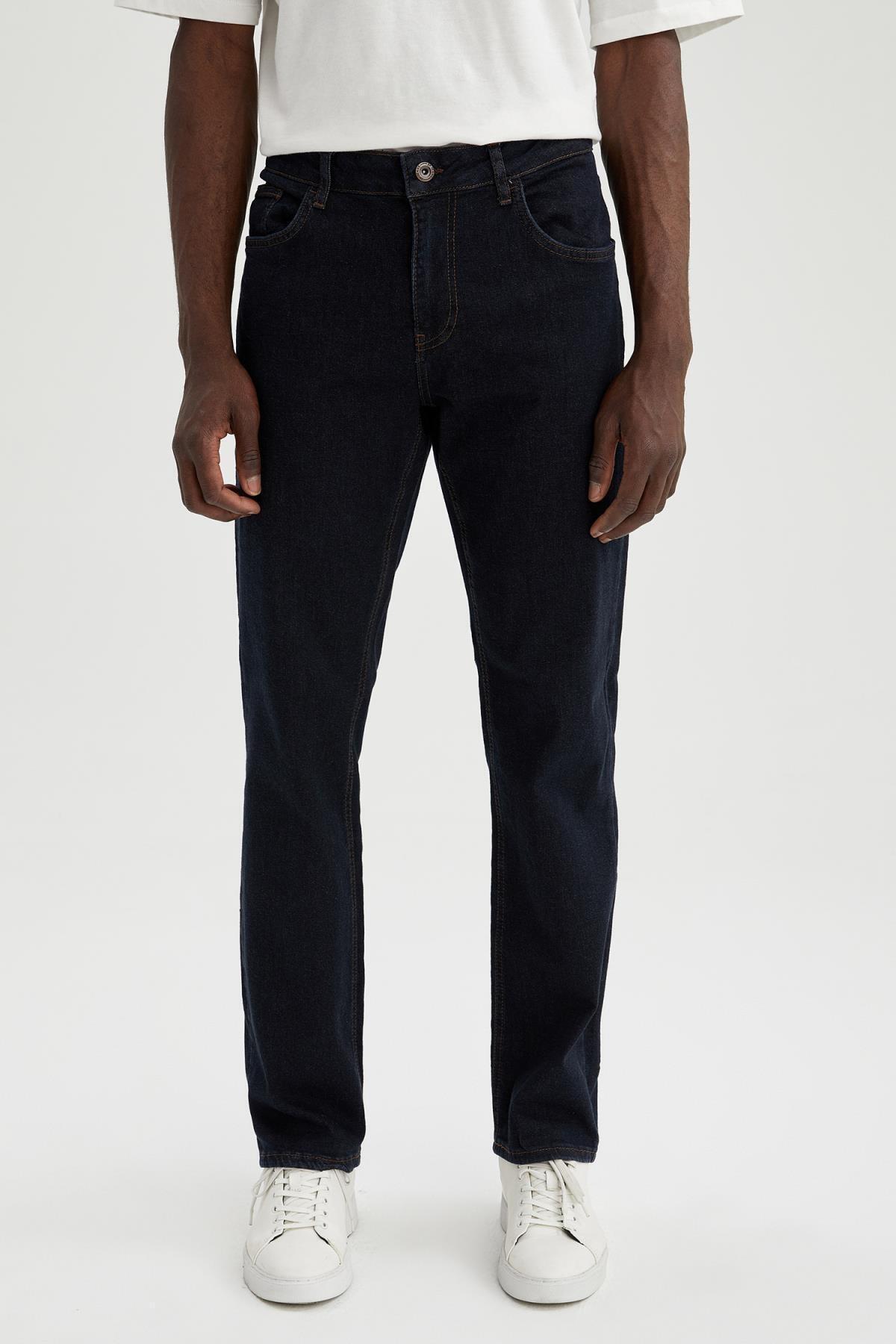 Comfort Fit Normal Bel Boru Paça Jean Pantolon
