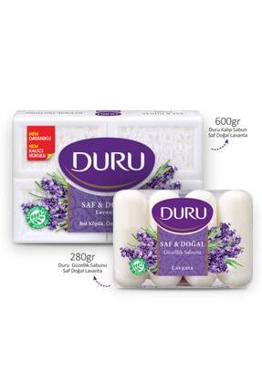 Duru Kalıp Sabun Saf Doğal Lavanta 600gr Ve Güzellik Sabunu Lavanta 280gr 1
