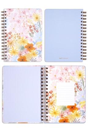 Matt Notebook A5 Süresiz Planlayıcı Ajanda Pembe Çiçekler 3