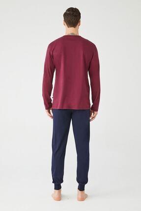 US Polo Assn Erkek Sari Yuvarlak Yaka Pijama Takım 2