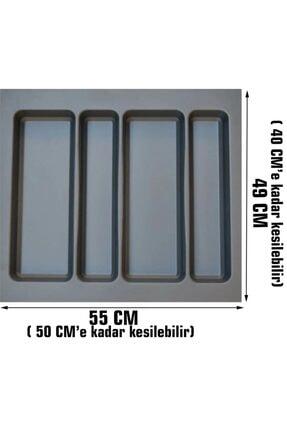 Arwino Gri Lüx 55 Cm X 49 Cm Çekmece Içi Kepçelik - 50 Cmx 40 Cm' Ye Kadar Kısalır ( Kaşıklık ) 0