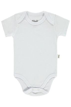 Civil Baby Bebek Çıtçıtlı Badi 0-24 Ay Beyaz 0