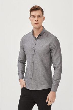 Avva Erkek Antrasit Oxford Düğmeli Yaka Regular Fit Gömlek E002000 0