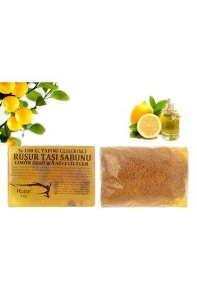 Ruşur Sefidab 1 Kutu Ruşur Taşı Ve Ruşur Taşı Sabunu Limon Özlü Kabak Lifli %100 El Yapımı 1