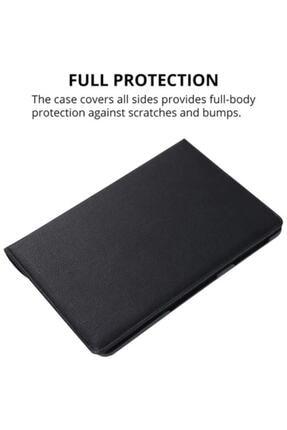 """HyperCep Samsung Galaxy Tab A7 T500 T505 T507 Kılıf 10.4"""" (2020) 360 Standlı Dönebilen Tablet Kılıfı Siyah 3"""