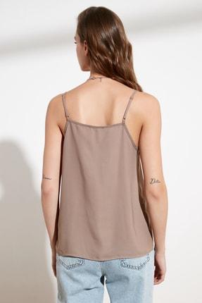 TRENDYOLMİLLA Açık Kahverengi Basic Bluz TWOSS19BB0224 3