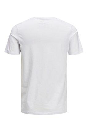Jack & Jones Jack&jones Essentıals Erkek T-shirt Whıte 4